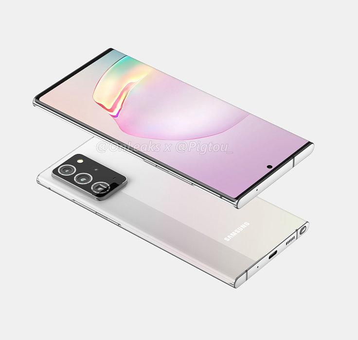Galaxy Note20+予測CG