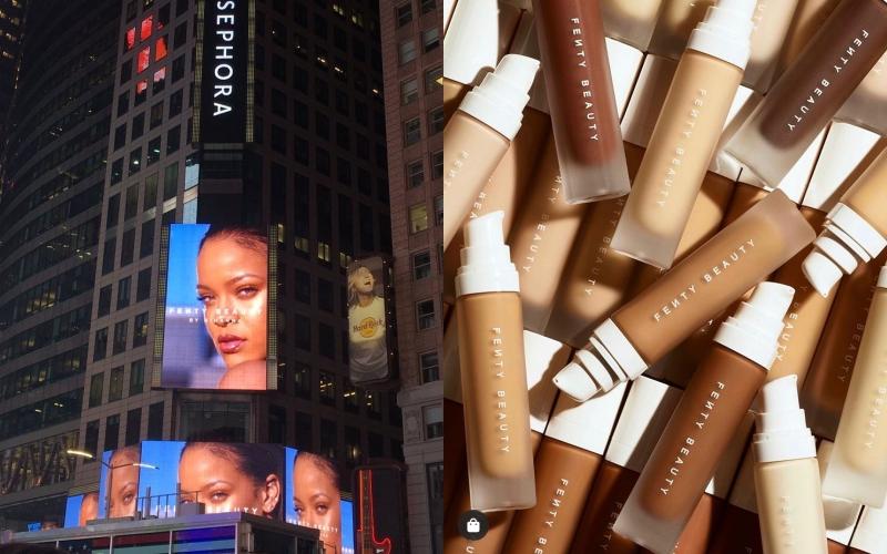 Rihanna的「副業」範圍遍佈時尚、彩妝,近期則是透過訪談表示有意為旗下美妝品牌新增保養商品線的規劃。(截自twitter、品牌IG)