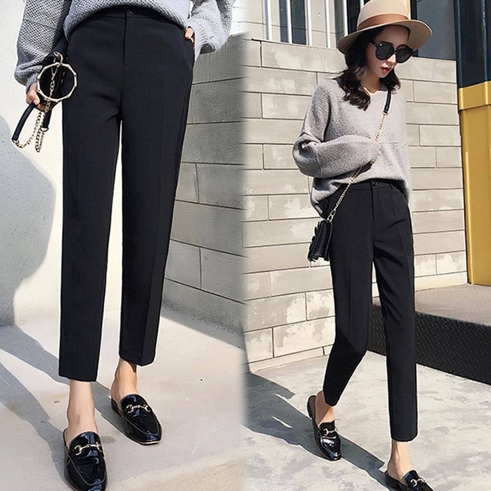 小隻女孩不能錯過的顯瘦九分褲型,露出纖細腳踝,看起來就很顯瘦。