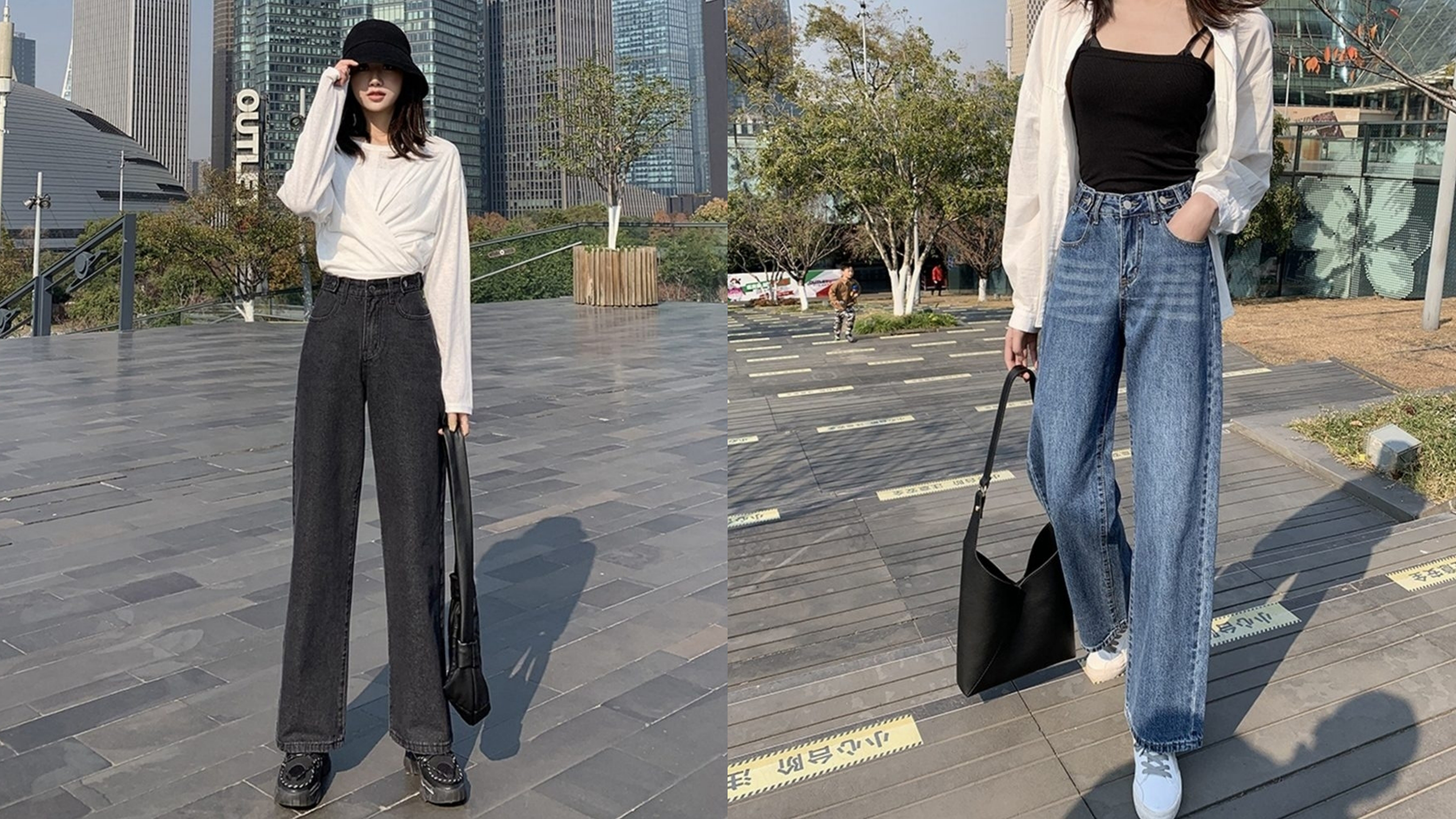 穿搭舒適的牛仔褲,沒有流行時限,加上腰&臀比例剛剛好,完全修身顯瘦