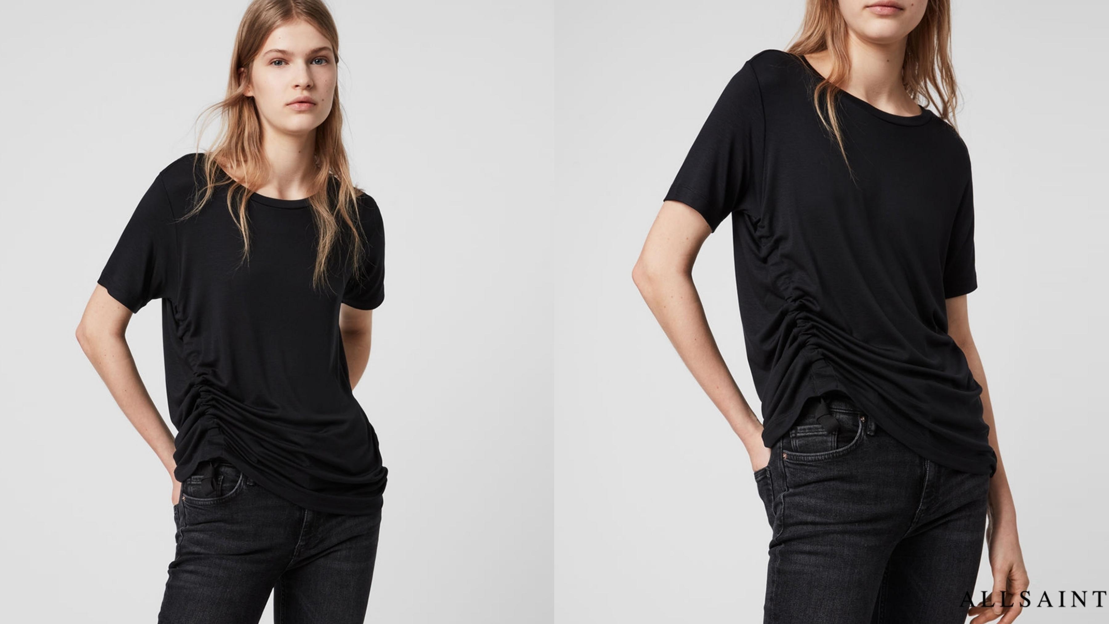 RYDER LUX 抽繩短袖T恤由輕質面料製成