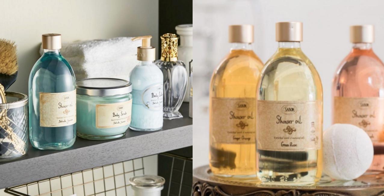 由四種天然植物油-小麥胚芽油、橄欖油、酪梨油、荷荷芭油製作而成,質地輕透,泡沫細緻好沖洗,清潔同時又能保濕。擺在浴室真的太可愛,加上保濕度跟香味都很棒,去SABON一定要買的經典產品。