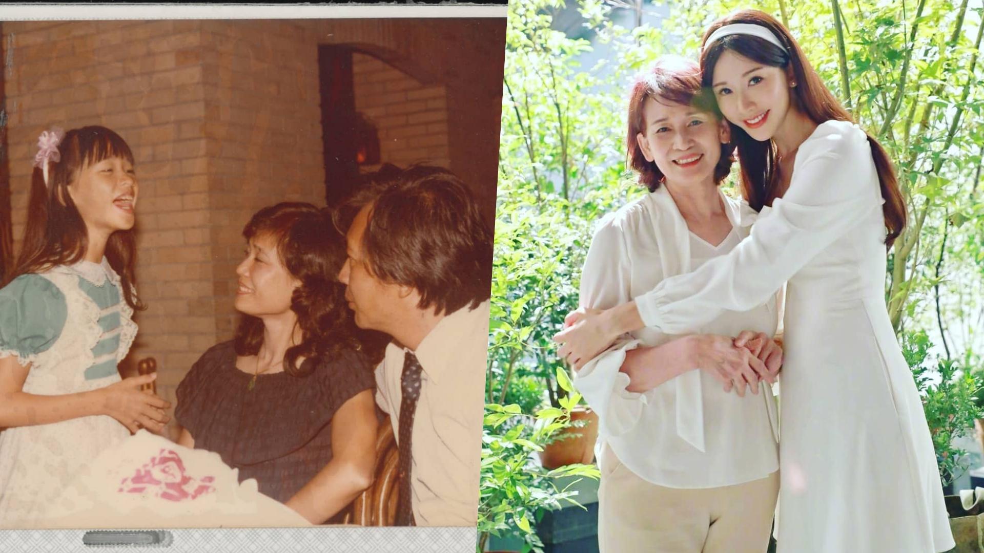 曬出童年照,除了媽媽漂亮之外,林志玲也是從小美到大!