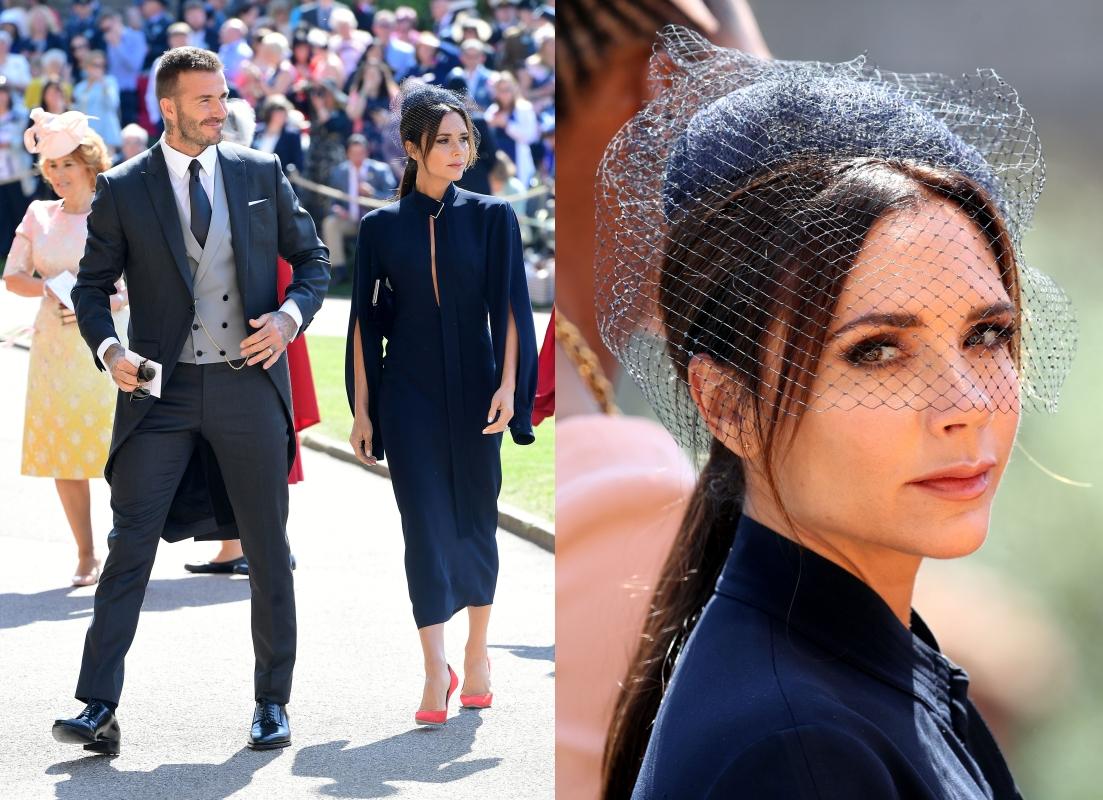 Victoria Beckham在2018年參加哈利王子大婚時,同樣一張「厭世臉」曾經引起網友討論。(路透)