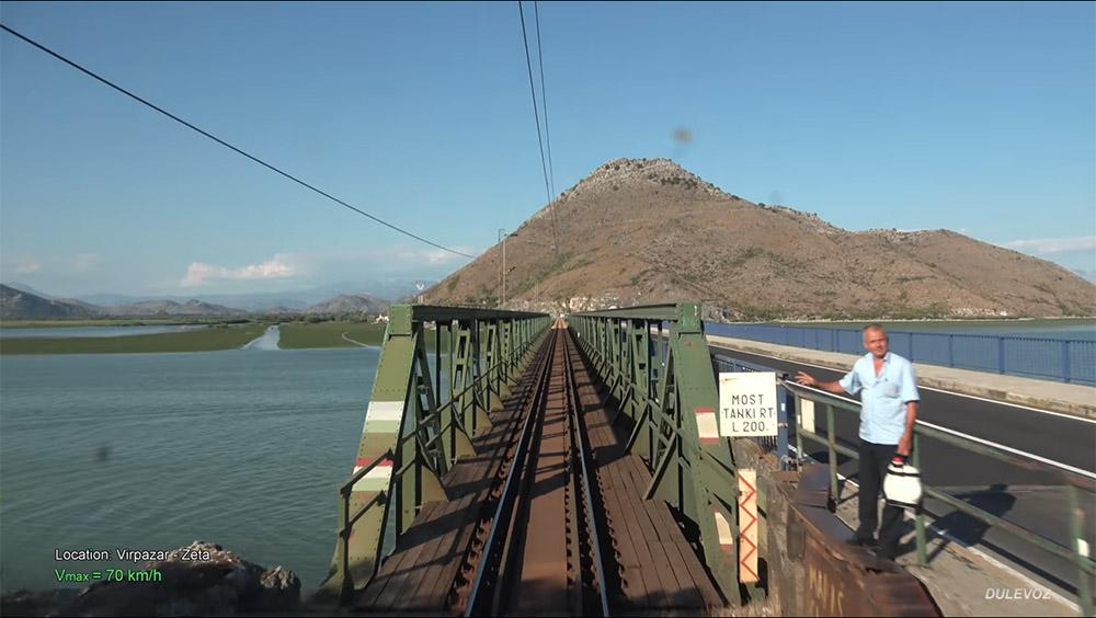 4K CABVIEW Bar - Bijelo Polje -102 tunnels -96 bridges -1029m altitude change from Sea to Mountains (圖片來源www.youtube.com/watch?v=zomZywCAPTA)