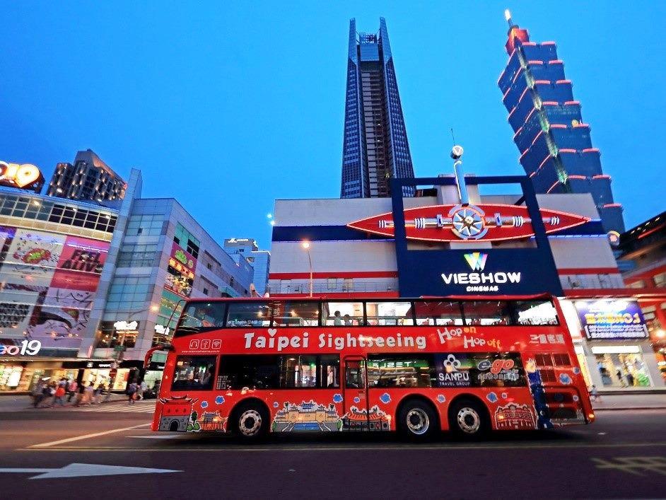 入住安心旅館 限量贈送雙層觀光巴士24小時票兌換券(圖片來源:台北市觀傳局)