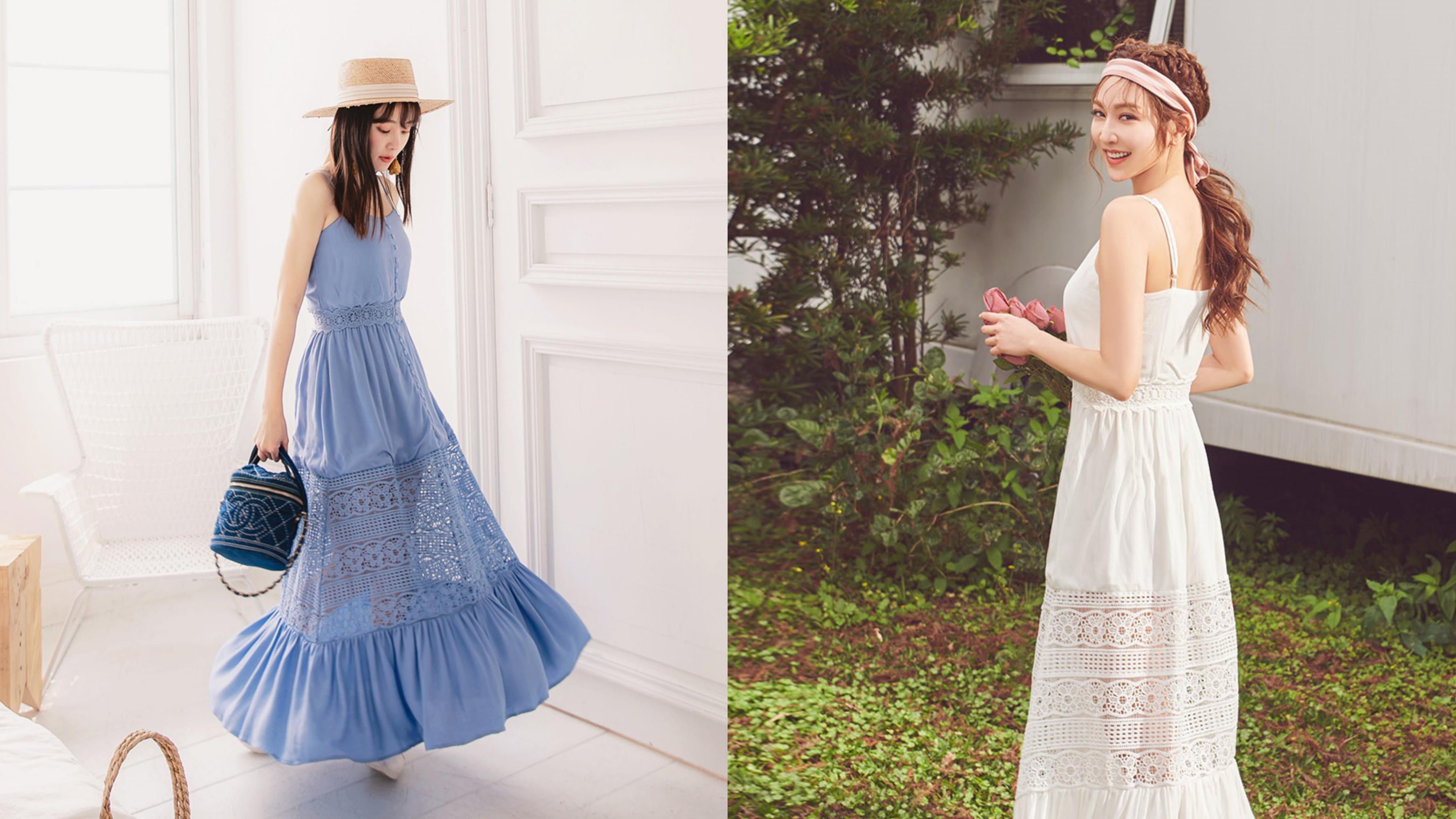 度假首選的的拼接蕾絲洋裝,讓妳出席各種正式場合不遜色