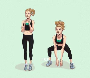 注意這個動作要保持背部挺直,雙腿才會有拉伸感