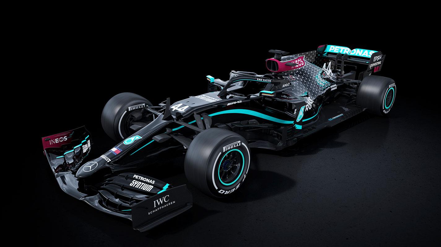 Mercedes車隊改用黑色宣揚反種族主義