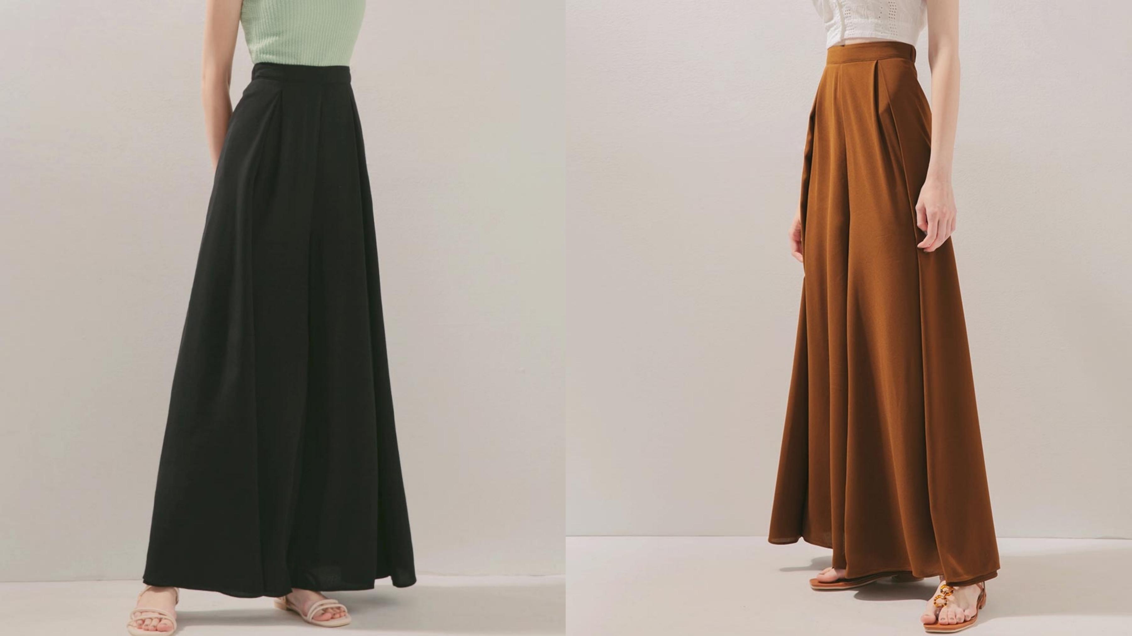 後鬆緊設計顯瘦寬褲,垂墜感雪紡紗材質,打造專屬的優雅浪漫