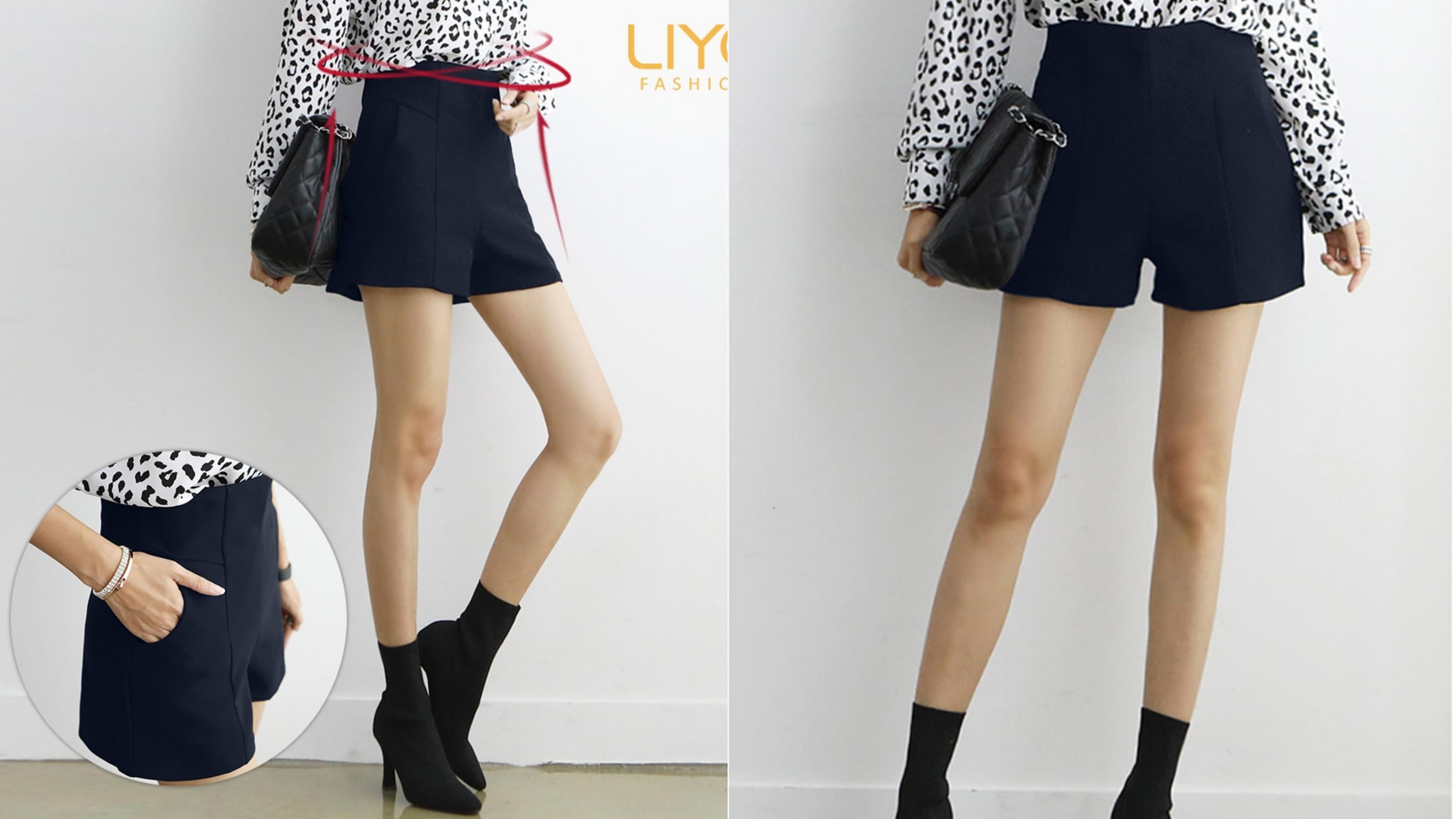 鬆緊設計舒適貼身,修身剪裁打造迷人長腿&時髦個性