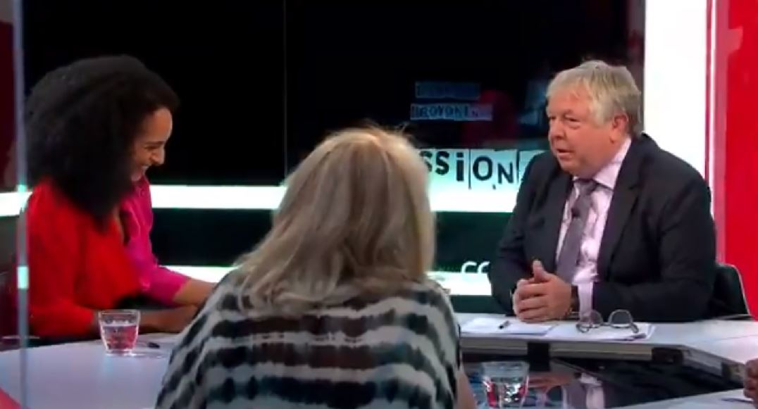 Author Afua Hirsch debated LBC host Nick Ferrari on Sky News' The Pledge (Picture: Sky News)