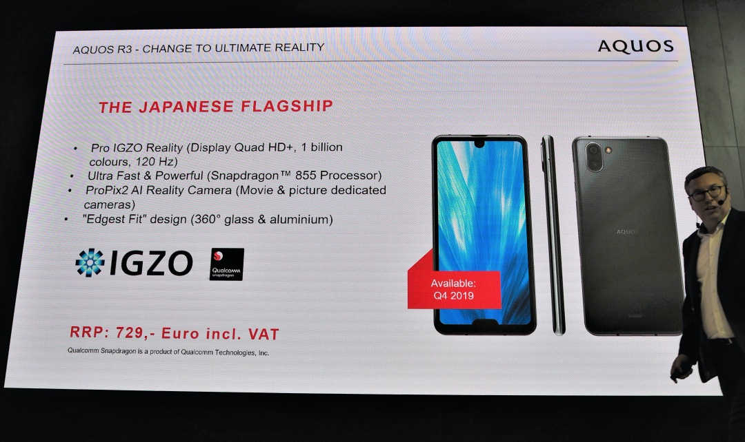 AQUOS global sales channels Masahiro Sano