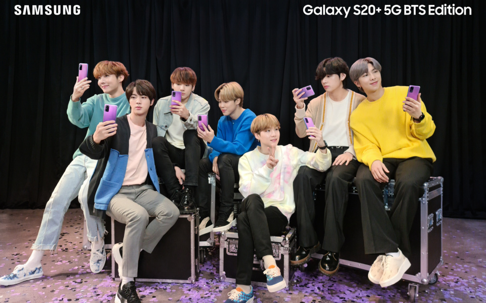 Samsung BTS special edition S20+ and Galaxy Buds+