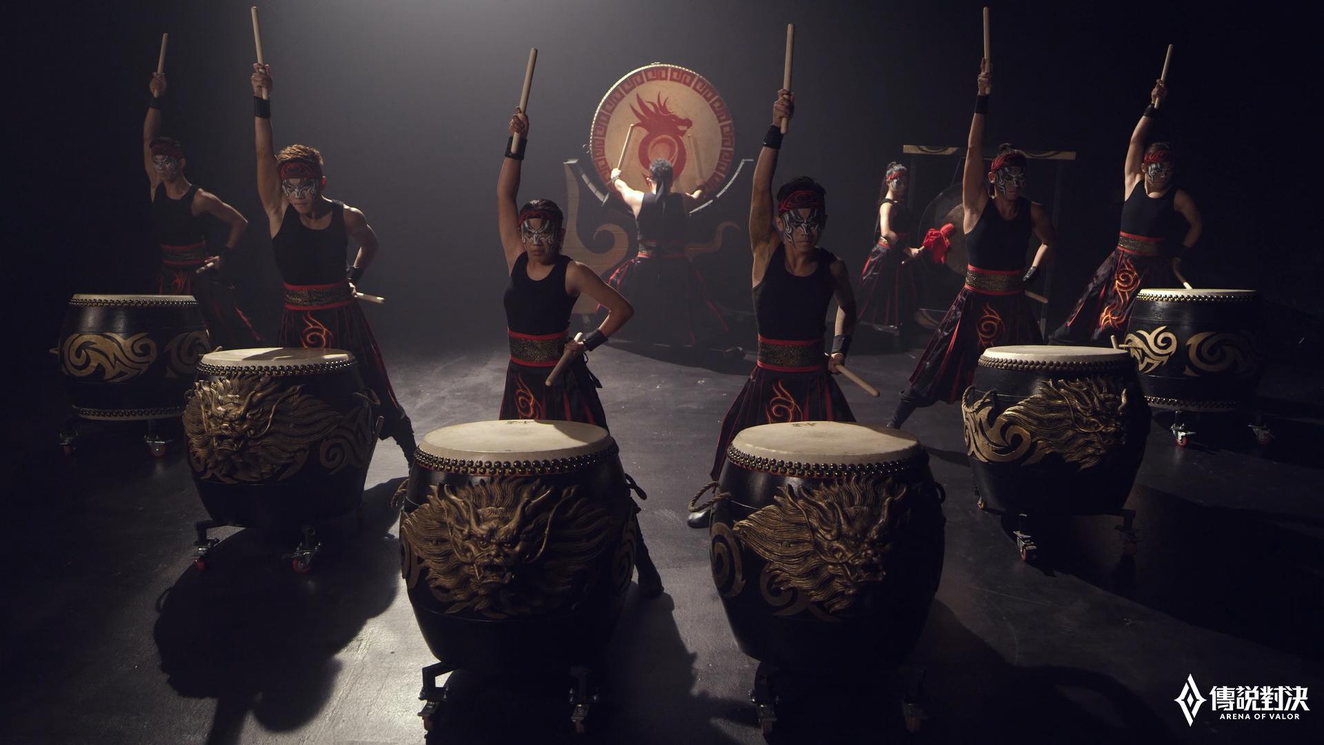 ▲《Garena傳說對決》邀請九天民俗技藝團鼓陣為GCS助陣加油
