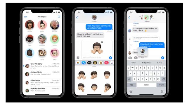 iOS 14 message