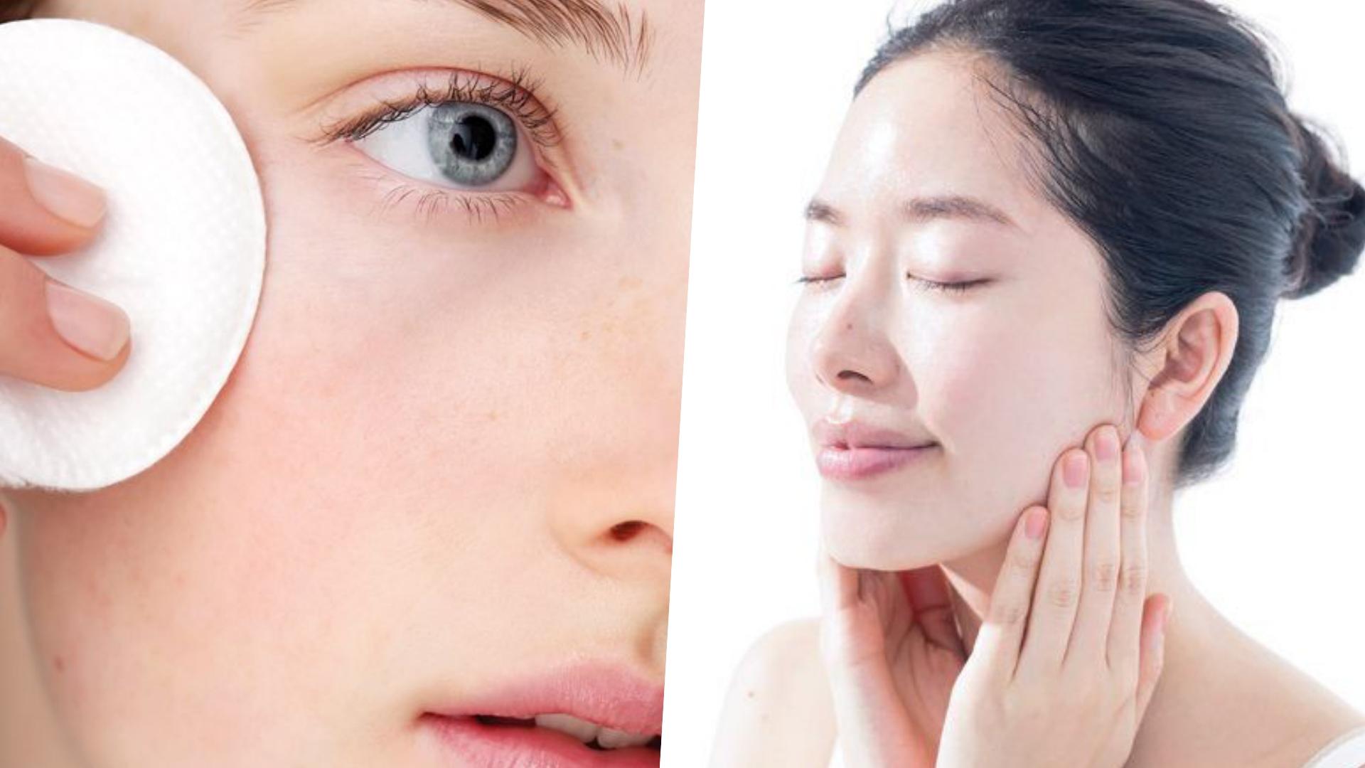 使用具有收斂功能的化妝水,搭配化妝棉輕輕擦拭臉部,如果妝前要急救的話也可以濕敷。