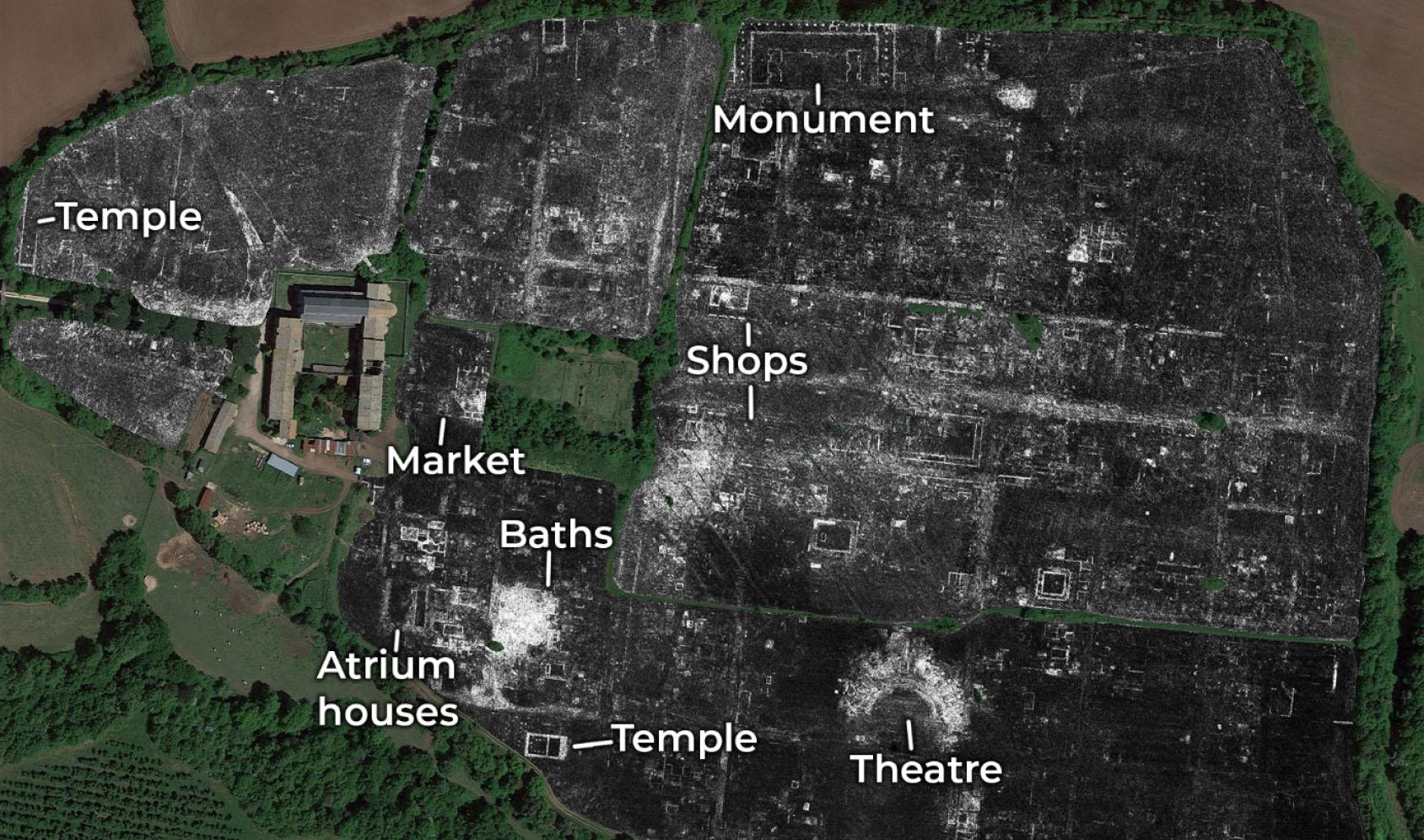 Details of the GPR map of Falerii Novi
