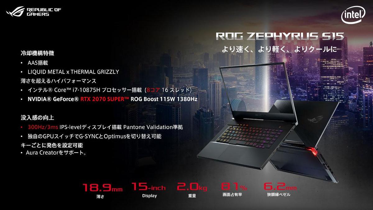 ROG Zephyrus S15