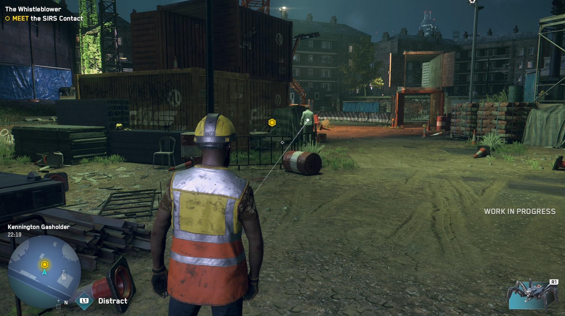 用工人角色能夠更容易混入工地地點的任務