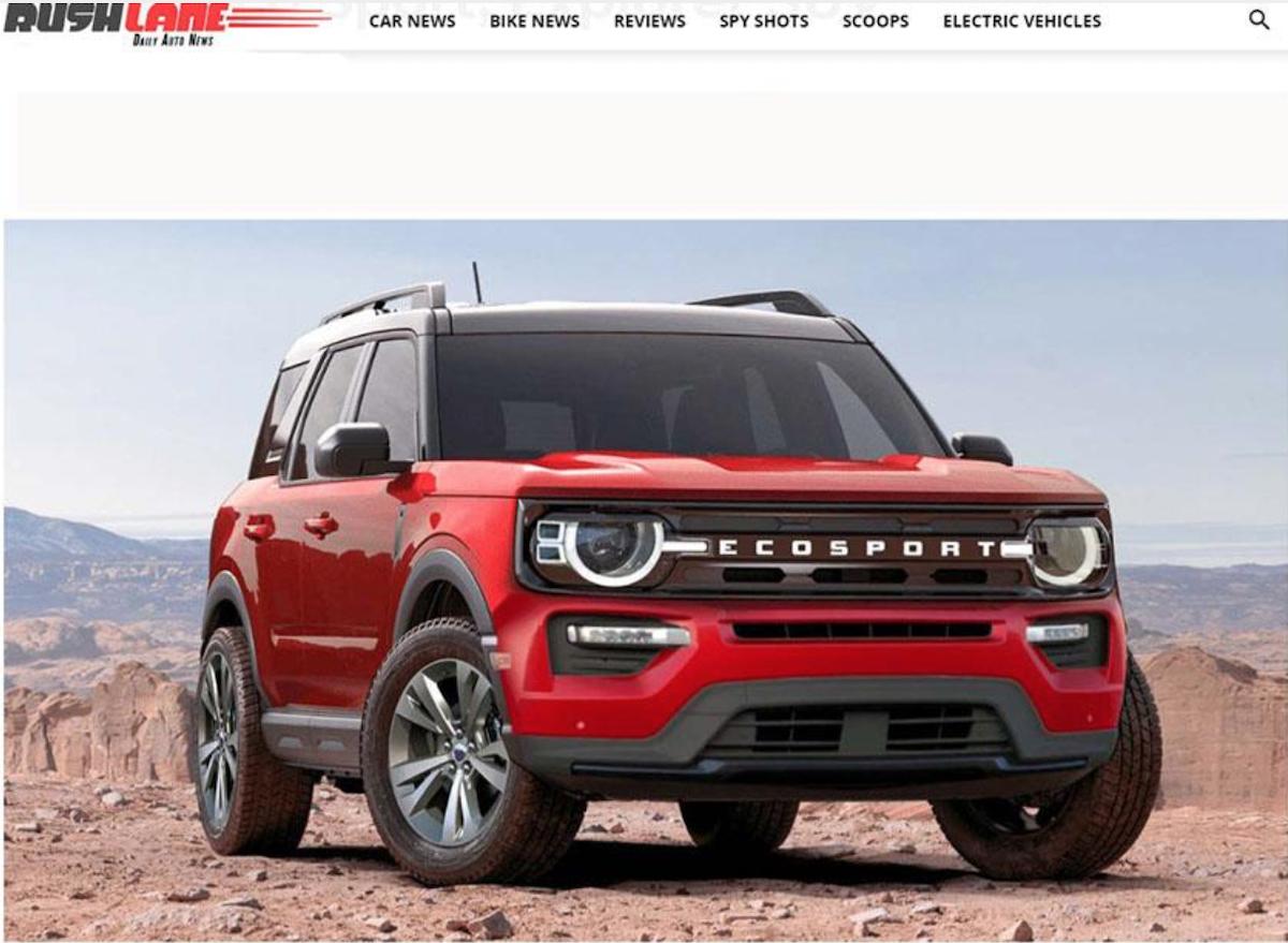 關於下一代 Ecosport,先前外媒已目擊到測試車蹤跡,打破會停產傳聞。此為下一代 Ecosport 預想圖。