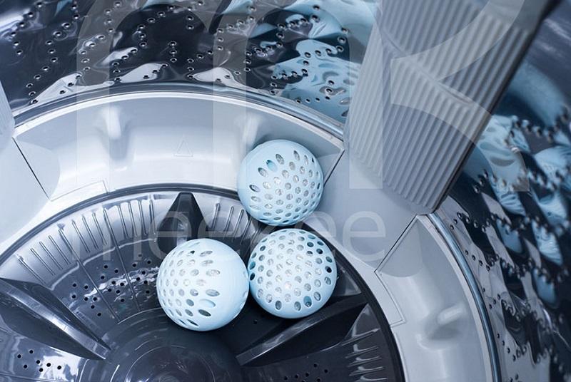 ▲平日洗衣就放入銀離子球一起洗,衣服跟洗衣槽同時都乾淨。(圖片來源:Yahoo購物中心)