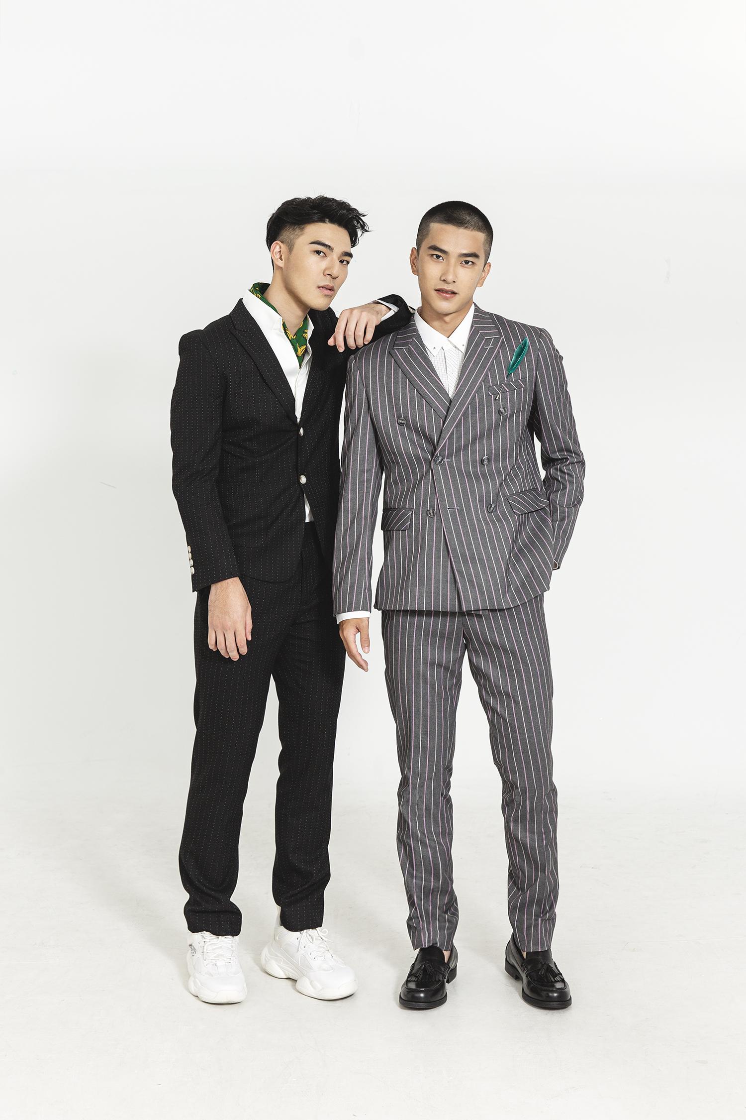 第七屆酷兒影展開幕片《刻在你心底的名字》兩位男主角陳昊森(左)、曾敬驊(右),以歷屆最年輕之姿「雙蛋黃」擔任影展大使。