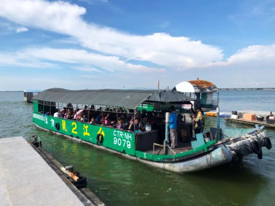 出海遊潟湖(圖片來源:台南旅遊網)