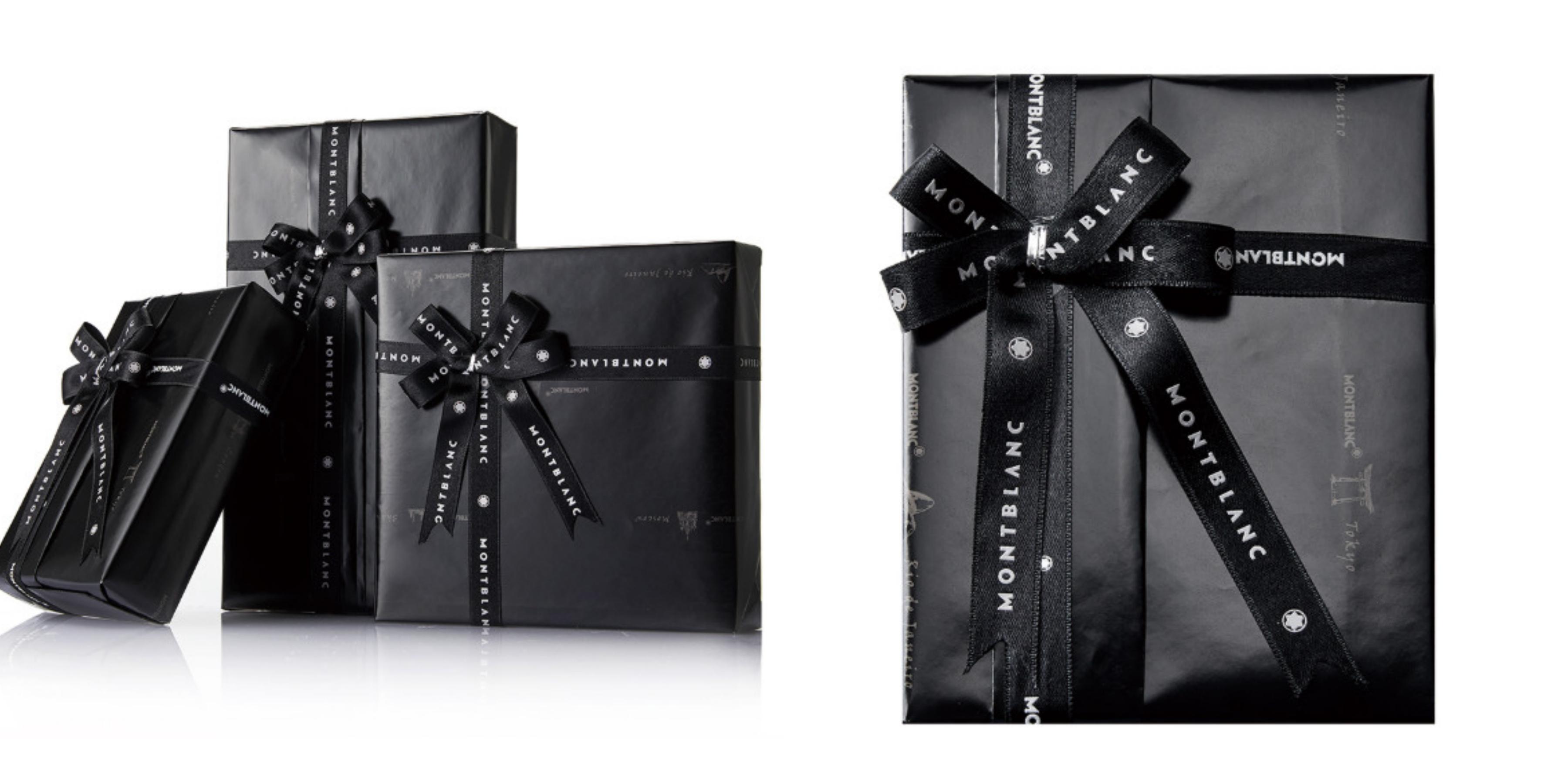 凡購買MONTBLANC萬寶龍的小物件商品,會加贈獨具品味的迷人禮物包裝