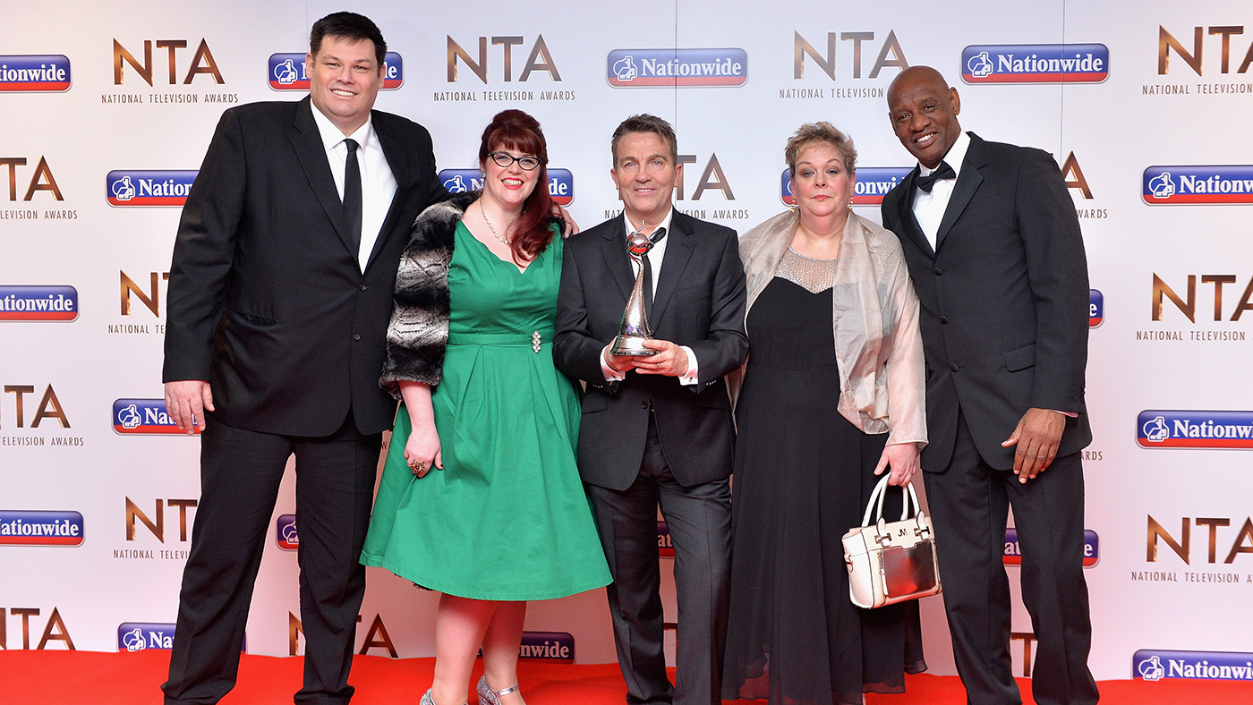 Shaun Wallace, seen here with his fellow Chasers, sees himself as a 'goal' model (Getty)