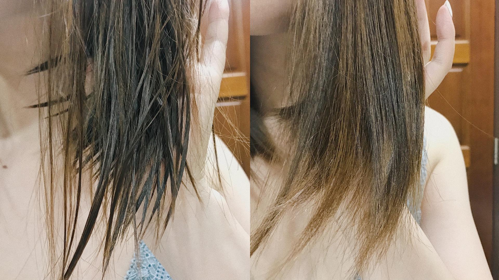 吹完的頭髮滿有柔順感的,摸起來不會毛躁!
