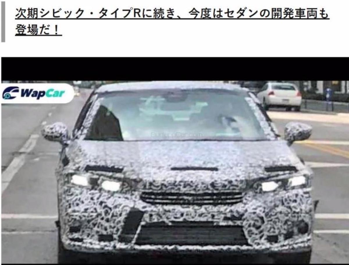第 11 代 Honda Civic 轎車版本的偽裝車曝光。