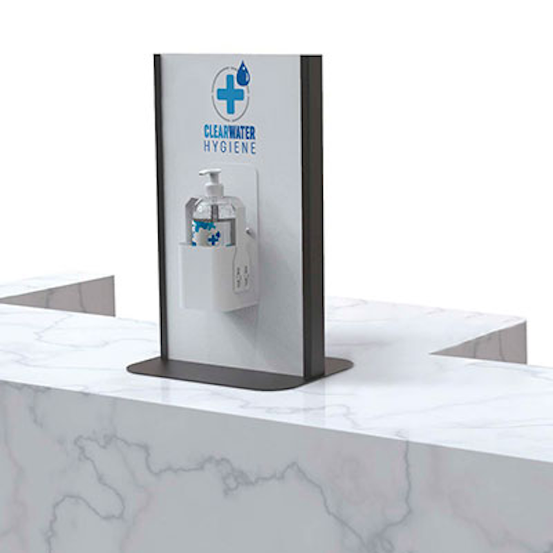 The company also sells dispenser units (ClearWater Hygiene)