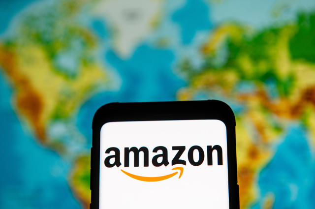 POLAND - 2020/03/23: In this photo illustration an Amazon logo seen displayed on a smartphone. (Photo by Mateusz Slodkowski/SOPA Images/LightRocket via Getty Images)