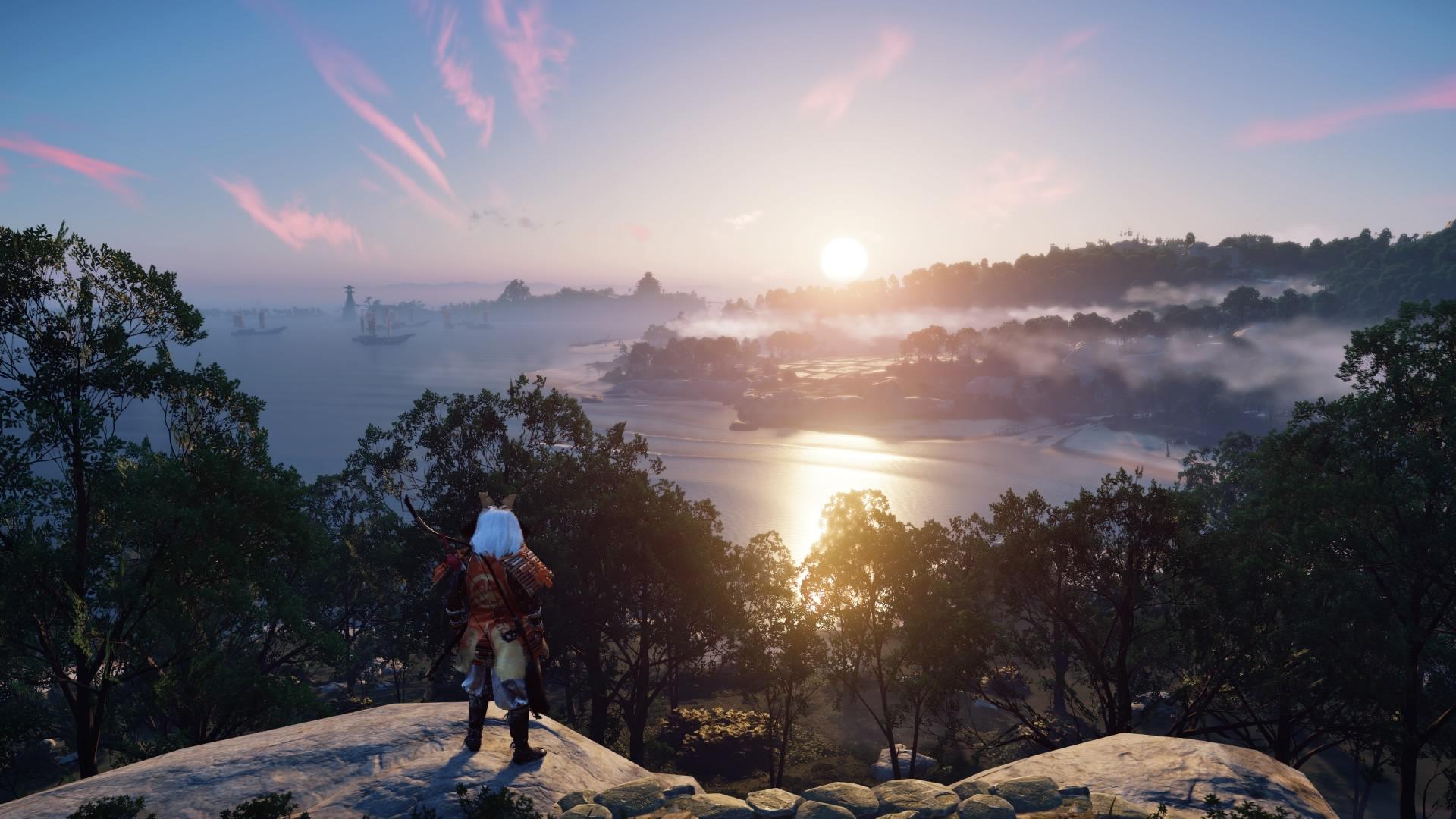 遊戲中的晝夜、天氣都是完全動態,天上的雲更是模擬運算出的,每天都不同。(圖源:PS4 Pro)