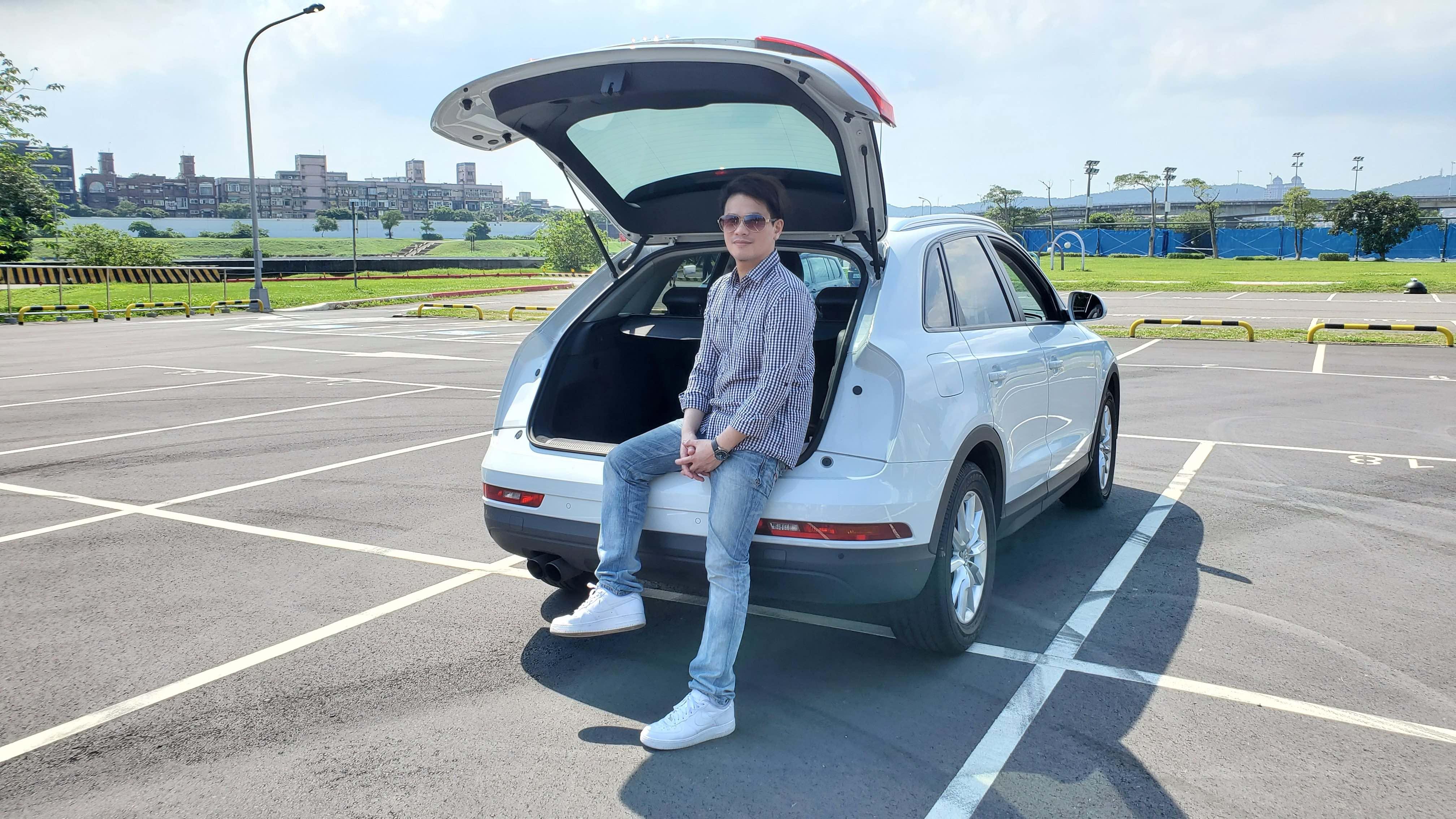 ▲Audi Q3 Sportback有休旅車空間,加上動感的斜背設計,擄獲楊正磊和家人的心。