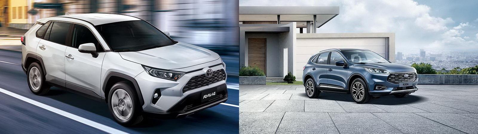 圖/Toyota RAV4 2.0旗艦與Ford Kuga EcoBoost 180旗艦型全能休旅王者之爭。