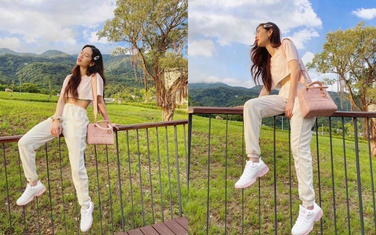 搭配裸粉膚色的服裝與相近色球鞋做混搭,揮別粉色系只有浪漫的一種面向,用休閒帥氣的方式把女孩的顏色穿得更有味道。