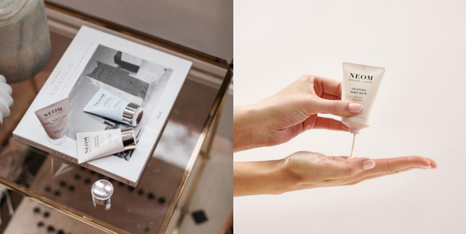 英國凱特王妃愛用品牌NEOM,富含絲質般輕盈滋潤的可可脂與乳油木果油,隨著手心溫度揉捻出曼妙多層次的精油氣息。