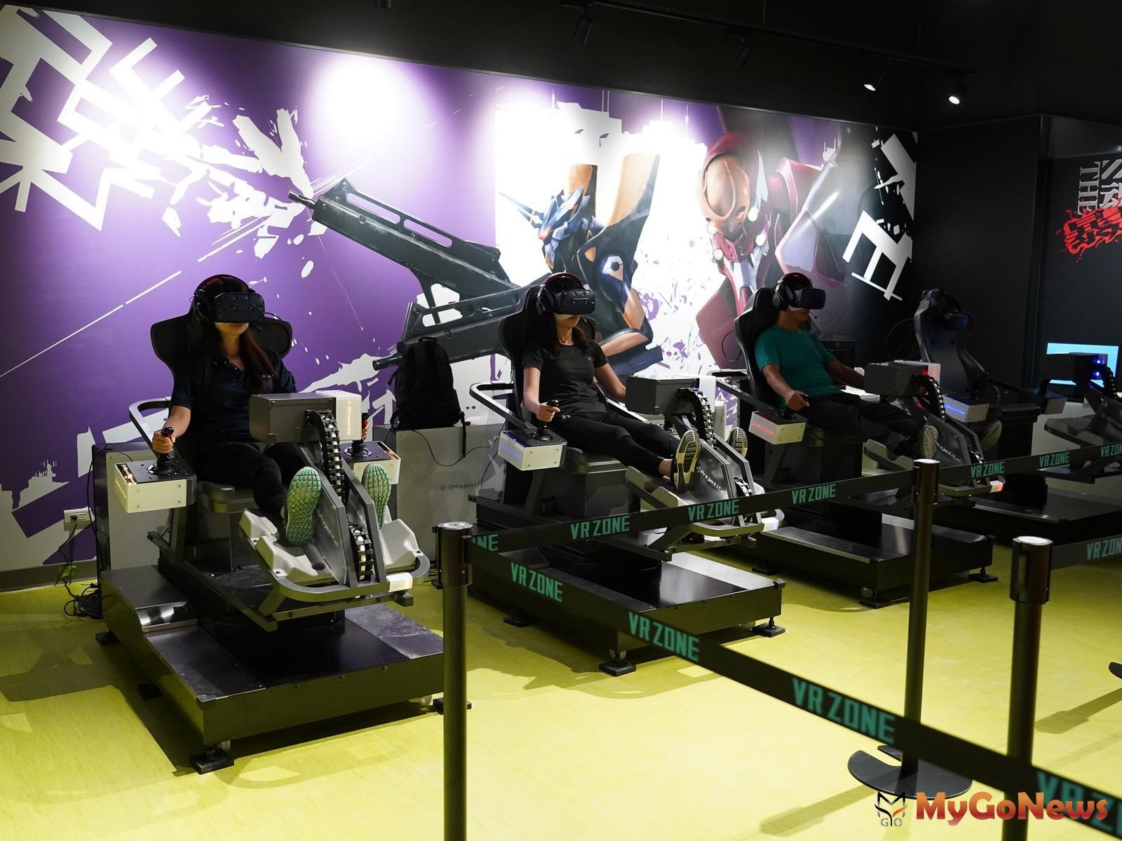 ▲宏匯廣場VR+ZONE+New+Taipei是擁有新世紀福音戰士、馬利歐賽車等全球高人氣黃金級IP的虛擬實境遊樂園(宏匯廣場提供)