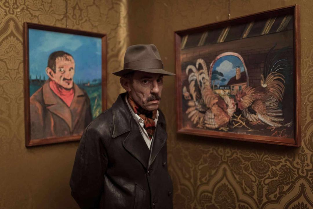《隱藏的畫家》安東尼奧利加布與作品自畫像和鬥雞