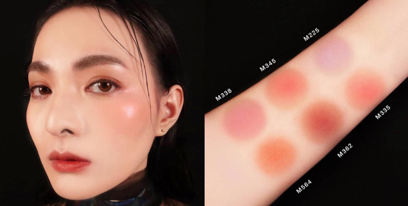 經典腮紅升級啦,上臉更細膩、光澤更漂亮!這顆超時髦的霧面珊瑚粉橘,彷彿被太陽親吻的嬌嫩美色。可用來修容立體妝感,是一款高級臉必修色。全年最熱賣的百搭奶霜玫瑰 M335也很值得收一波。