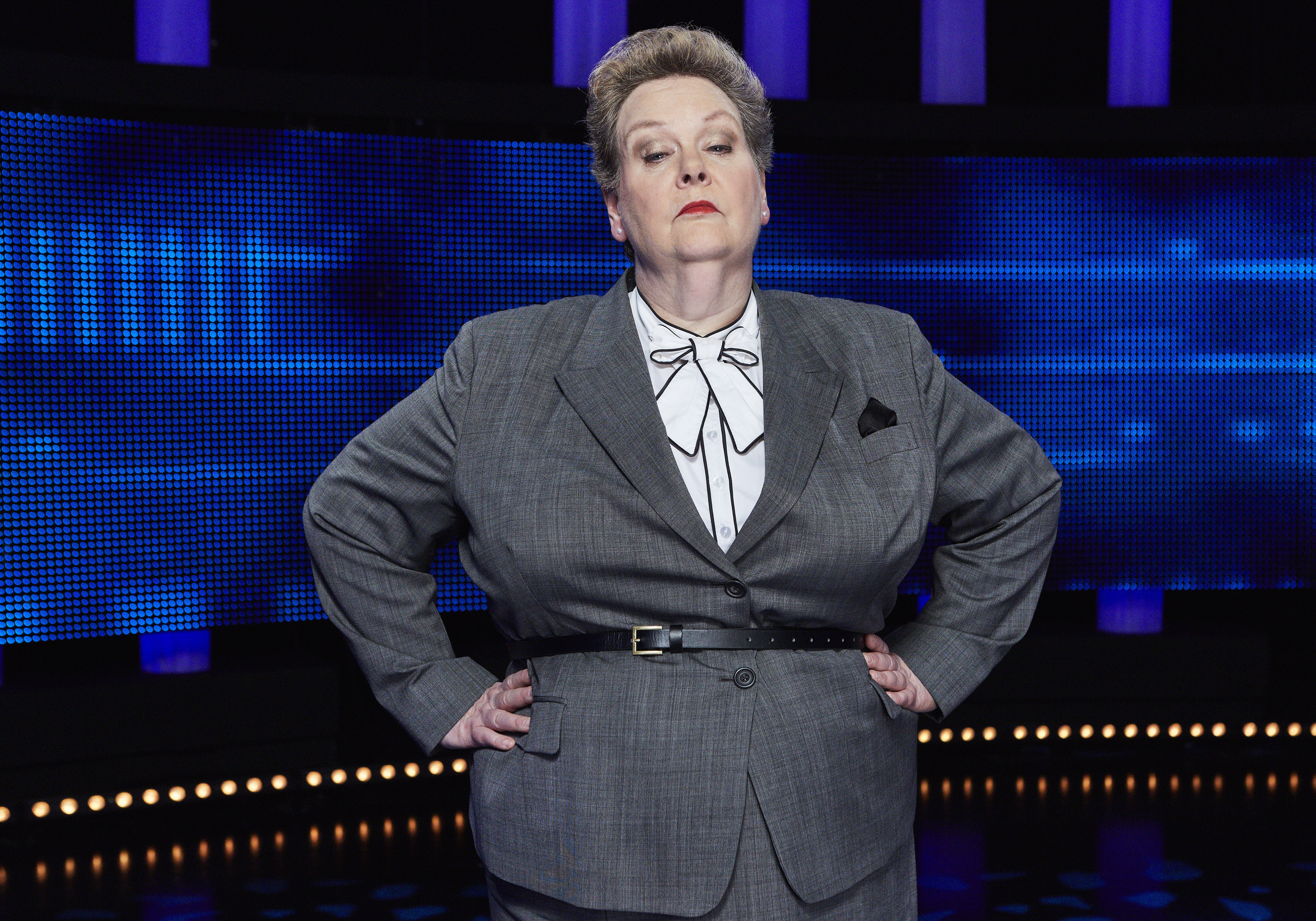 """Chaser, Anne """"The Governess"""" Hegerty on The Chase. (© ITV/Matt Frost)"""