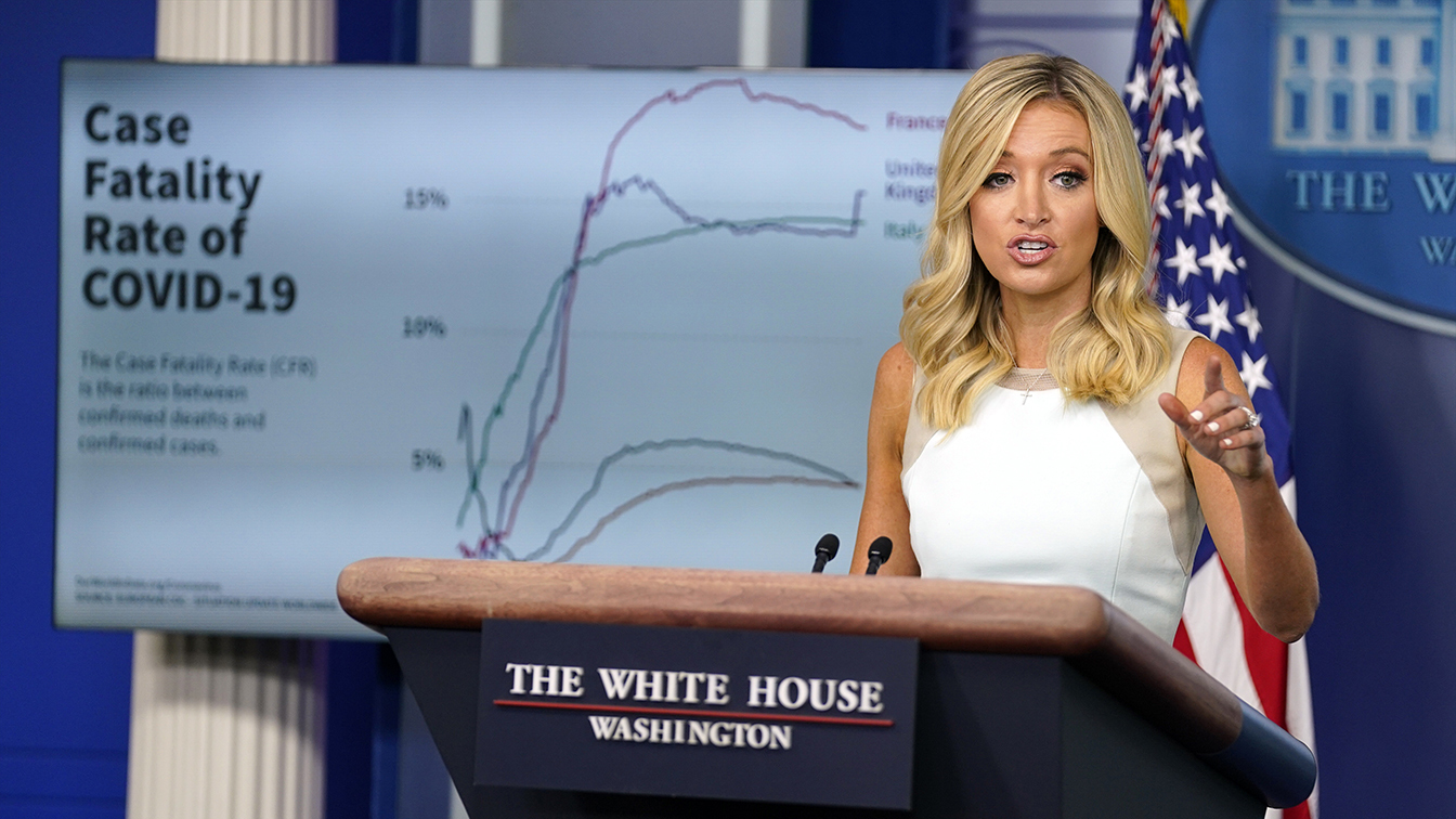 White House defends Trumps claim that 99 percent of COVID-19 cases are harmless with chart showing 5 percent are fatal