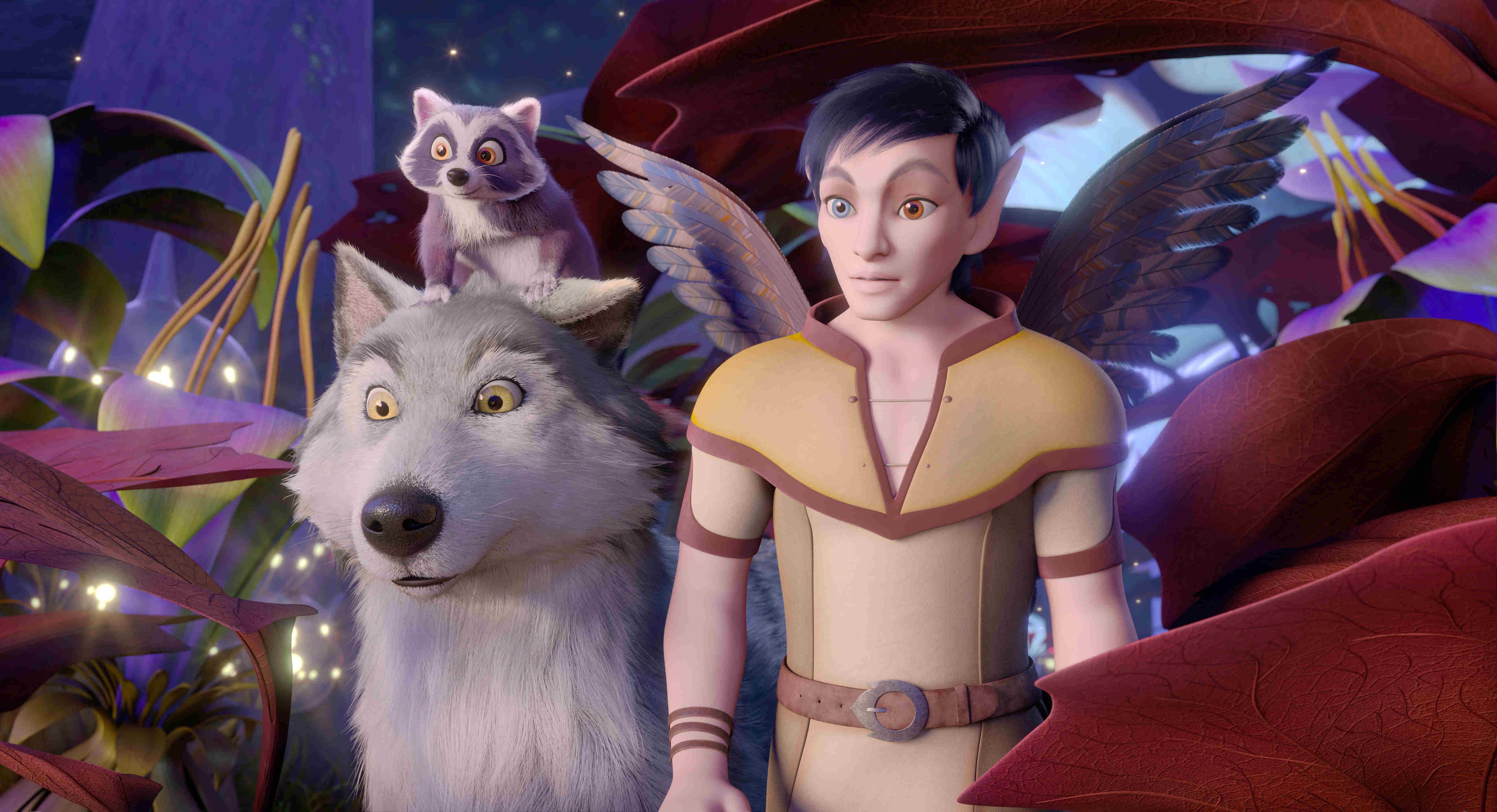 《巴亞拉魔幻冒險》浣熊比歐和巨狼「萊克斯」結為莫逆,兩人形影不離