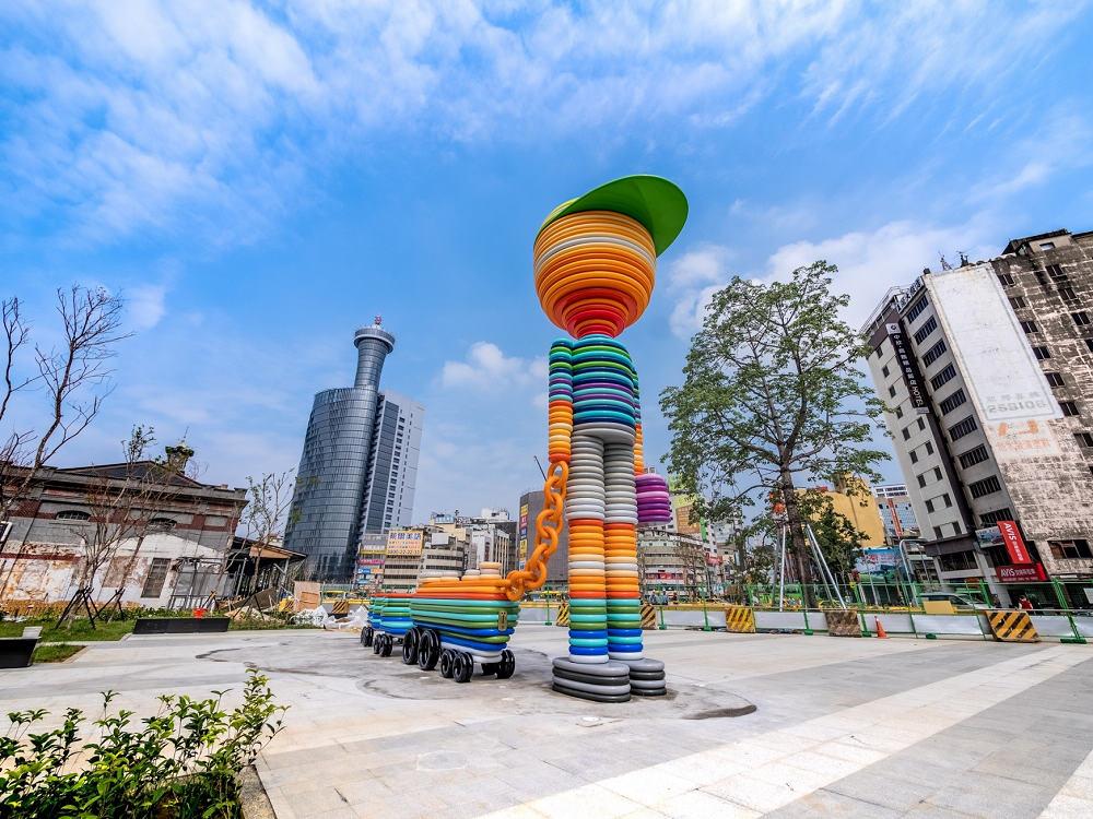 青春鐵道線-公共藝術作品-期待(圖片來源:台中市政府文化局)