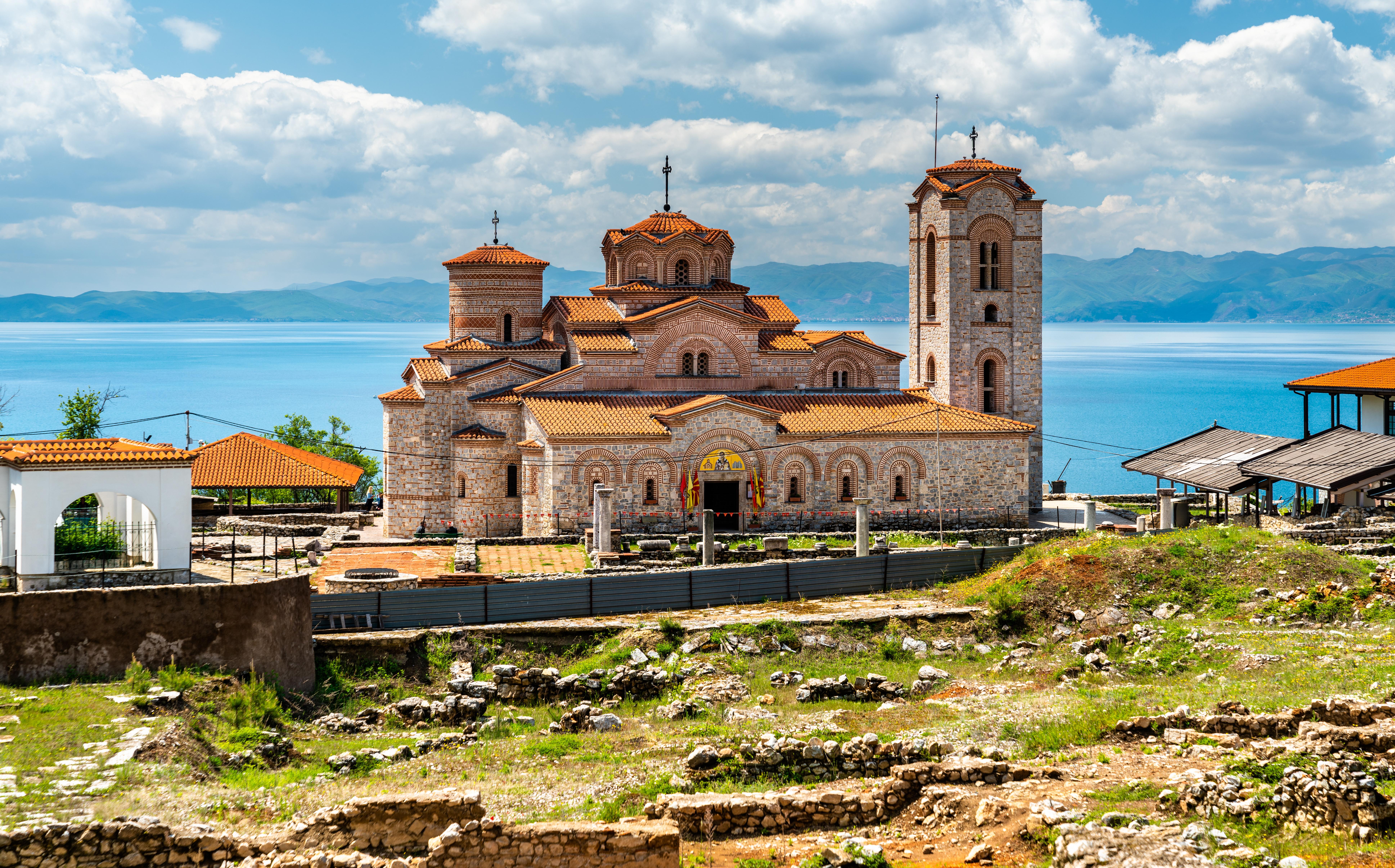 Saints Clement and Panteleimon Church at Plaosnik in Ohrid, North Macedonia
