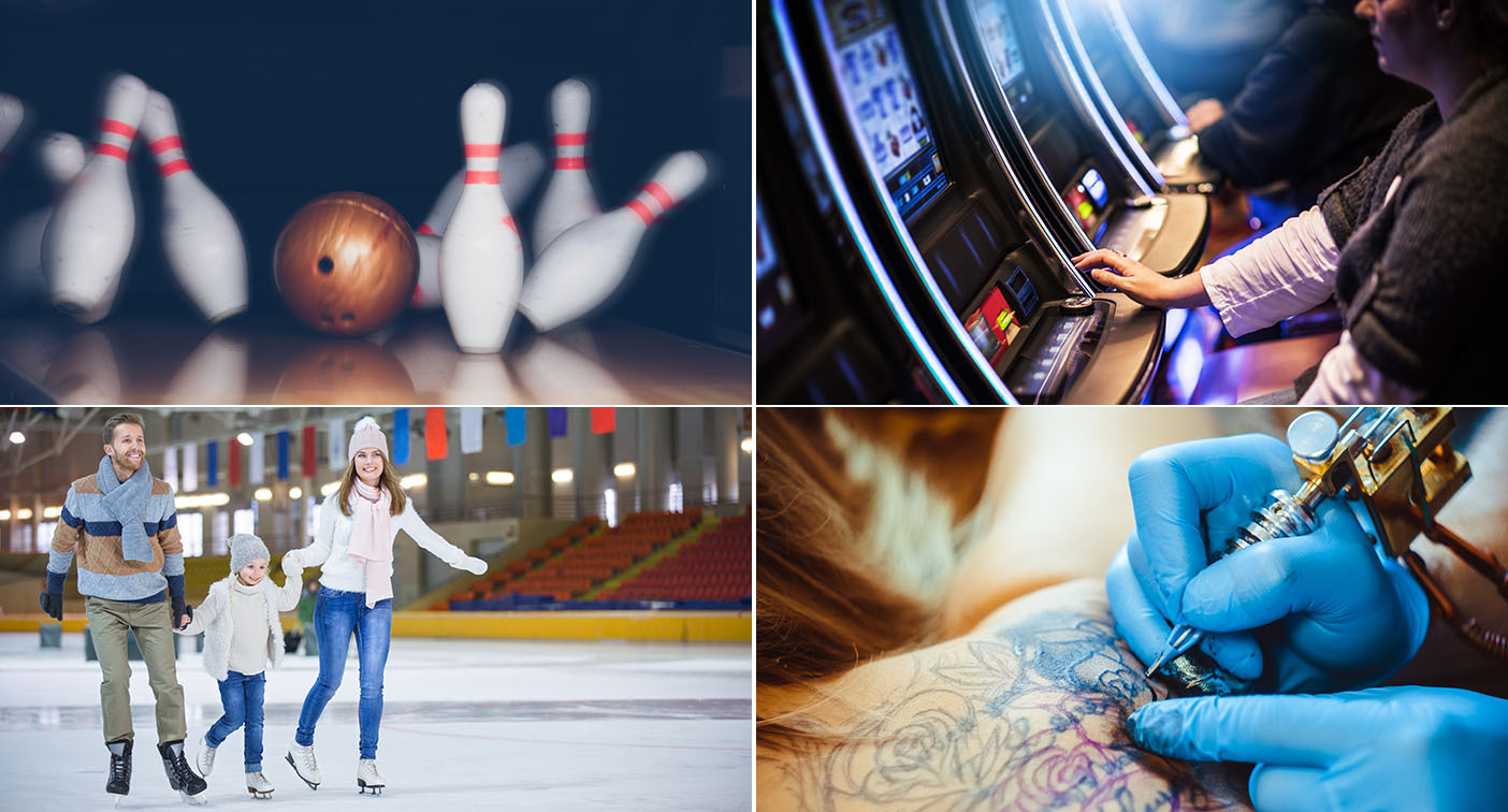 Casinos, skating rinks, bowling alleys and tattoo studios will be able to reopen from Saturday. (Getty)
