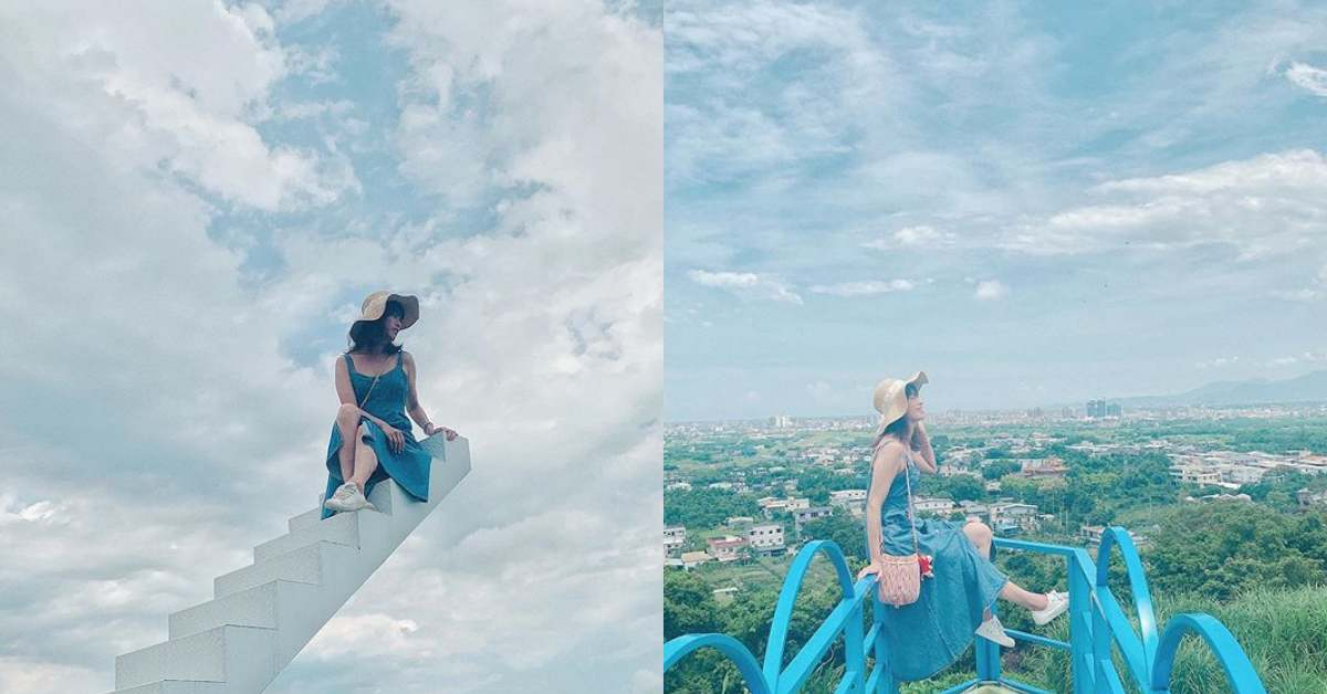 店內最知名的便是那可以爬上天空的「天梯」不用羨慕韓國台灣也有了,潔白的梯身搭配藍天,美到就像從天空延伸下來