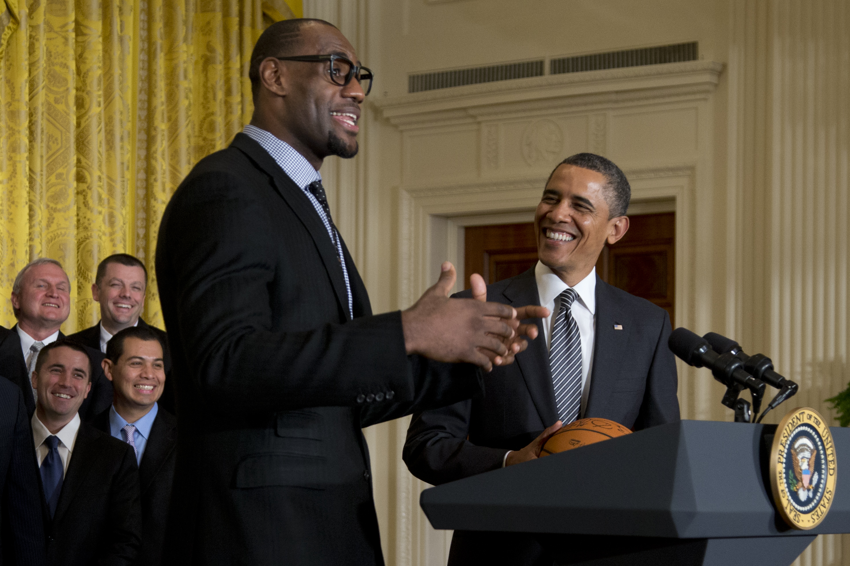 President Barack Obama and LeBron James